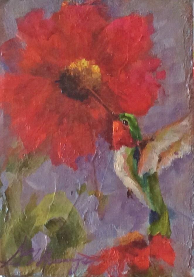 """Filler up"" original fine art by Susie Monzingo"