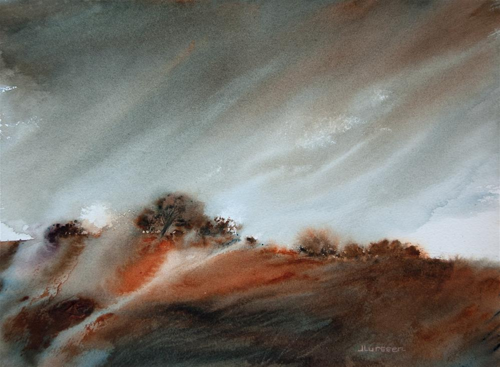 """Windswept Hill"" original fine art by Jean Lurssen"