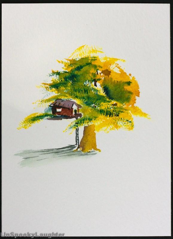 """""""Daily Card #88"""" original fine art by A.E.E. Miller"""