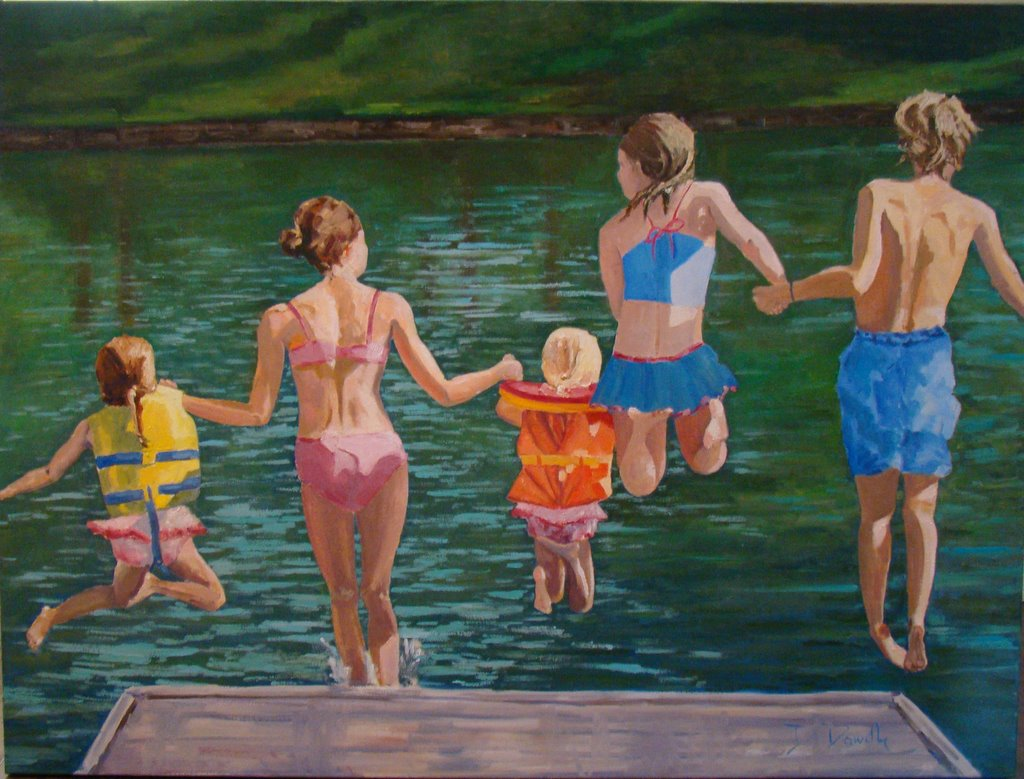 """Ready, Set, Go!!!!"" original fine art by Debbie Dowdle"