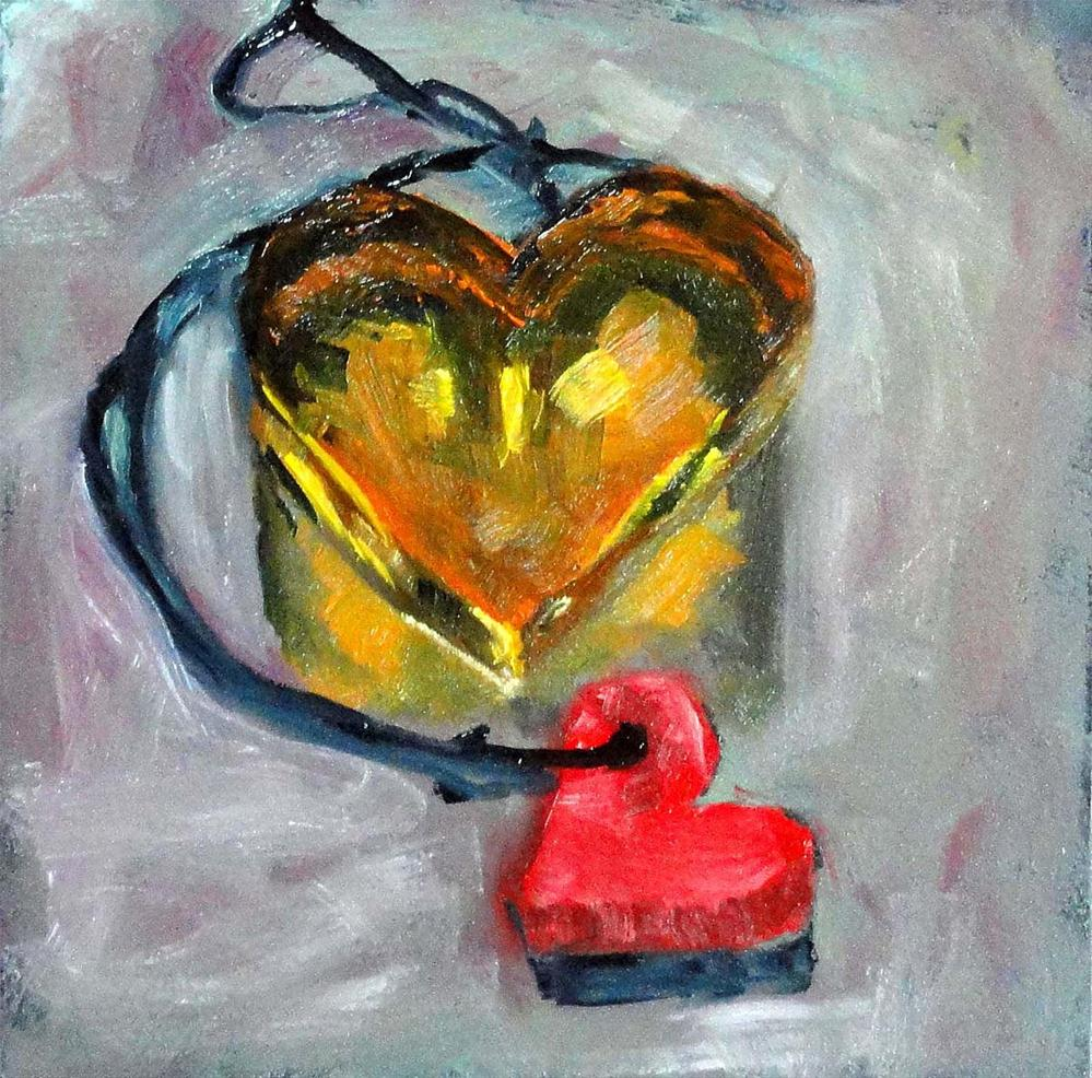"""Left-Handed Hearts"" original fine art by Cietha Wilson"