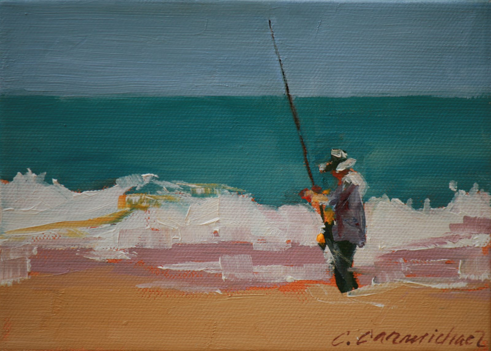 """adjustment"" original fine art by Carol Carmichael"