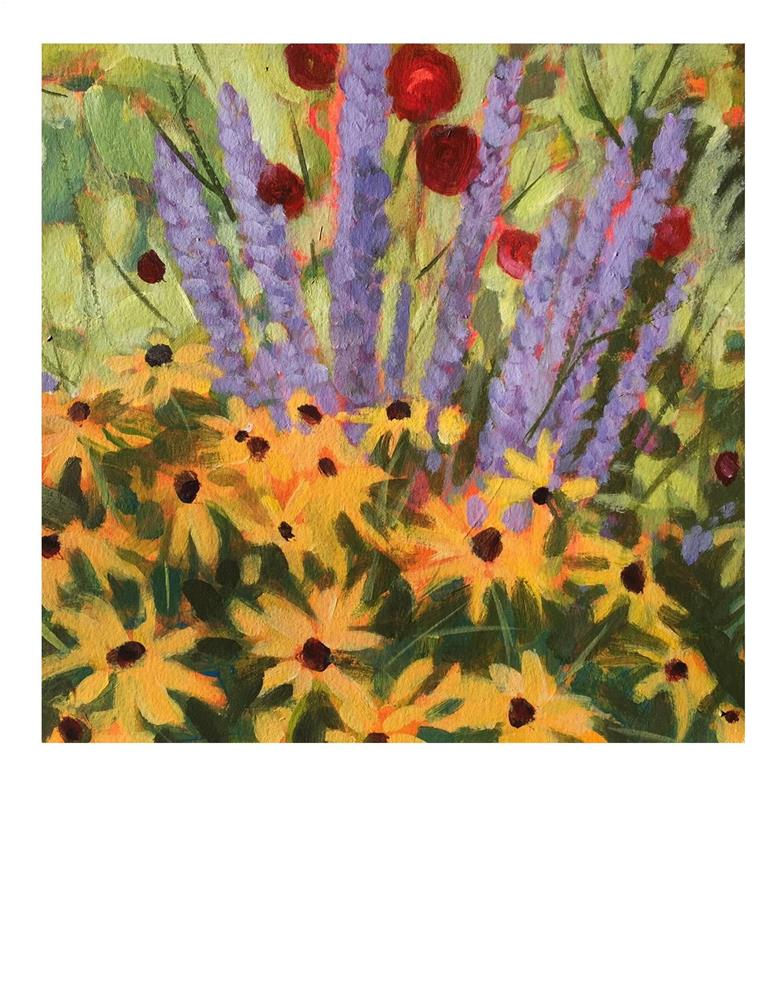 """Courtney's Garden"" original fine art by Suzanne Woodward"