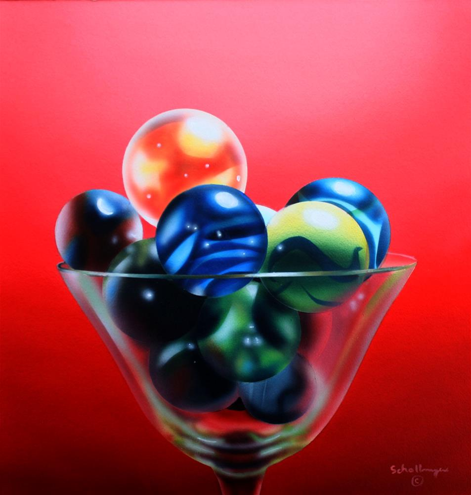 """Marbles in Red"" original fine art by Fred Schollmeyer"