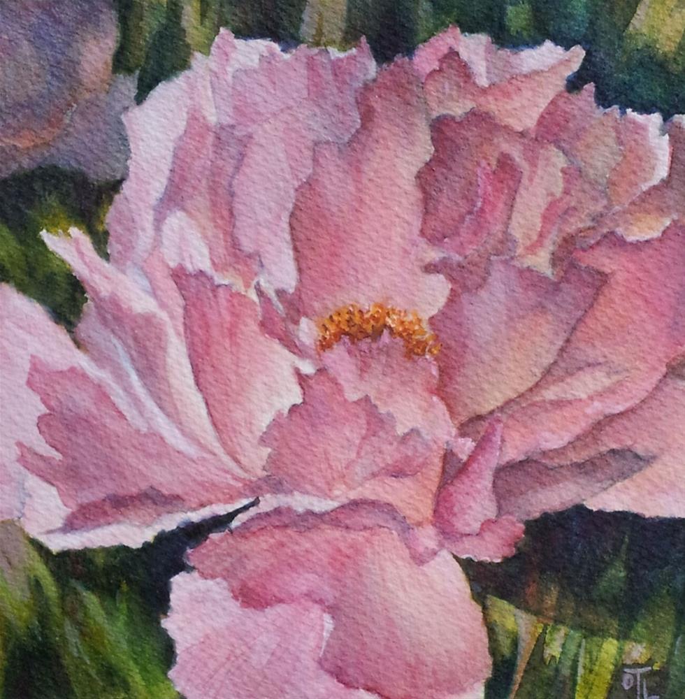 """DCS # 24 Pink peony"" original fine art by Olga Touboltseva-Lefort"