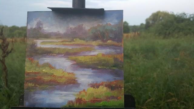 """Twisting Creek"" original fine art by Tammie Dickerson"