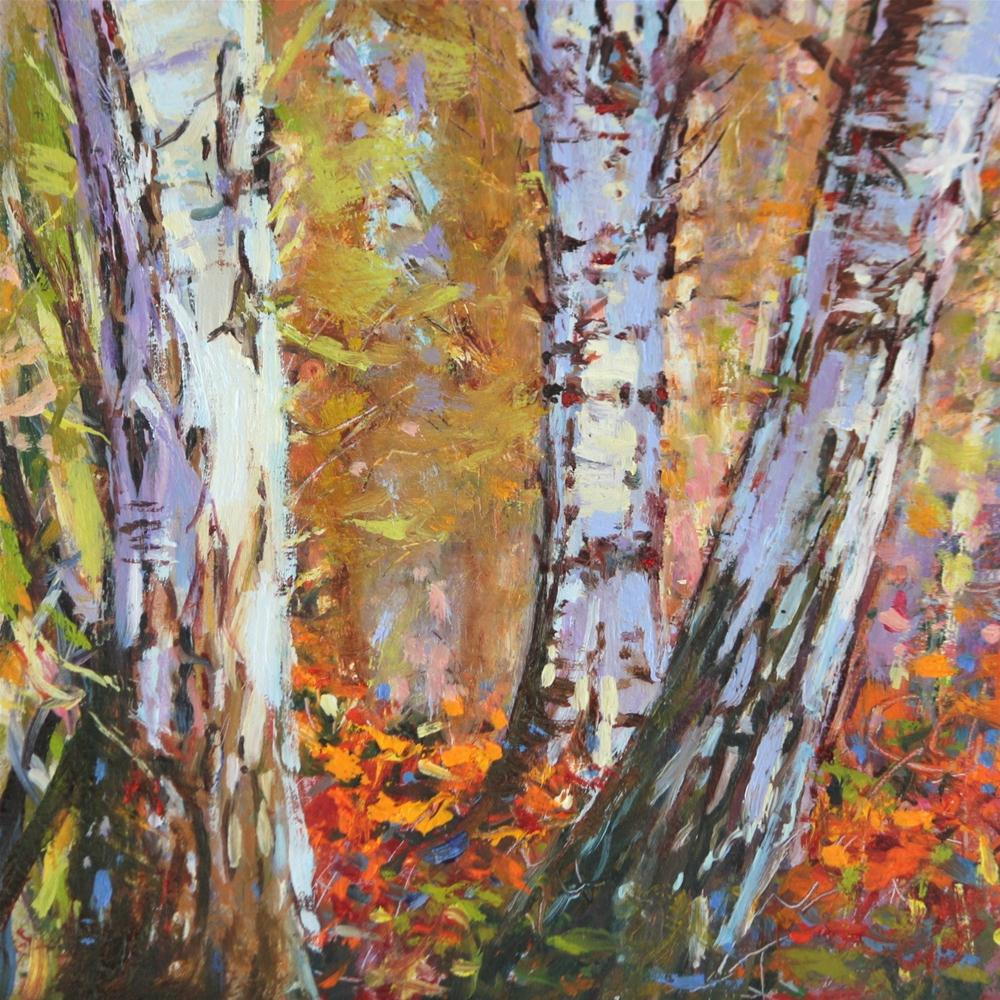 """Into the Forest"" original fine art by Ken Devine"