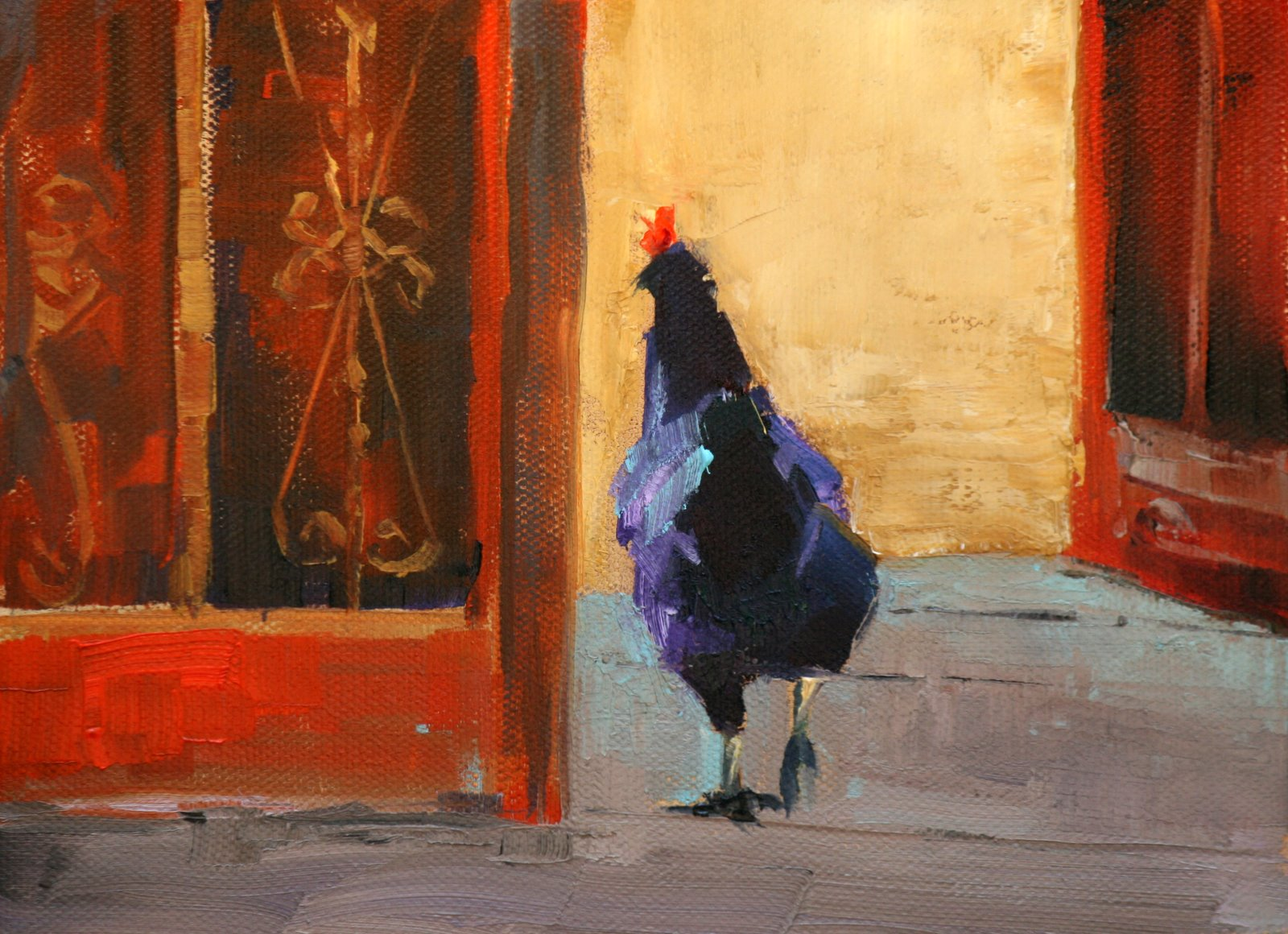 """Whats for Dinner?"" original fine art by Carol Carmichael"