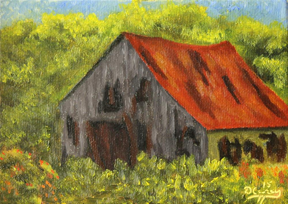 """Seen Better Days 001a 5×7 oil on canvas panel – Dave The Daily Painter"" original fine art by Dave Casey"