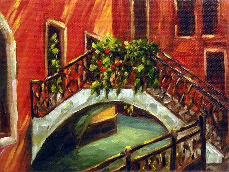 """Venetian Bridge"" original fine art by Irina Beskina"