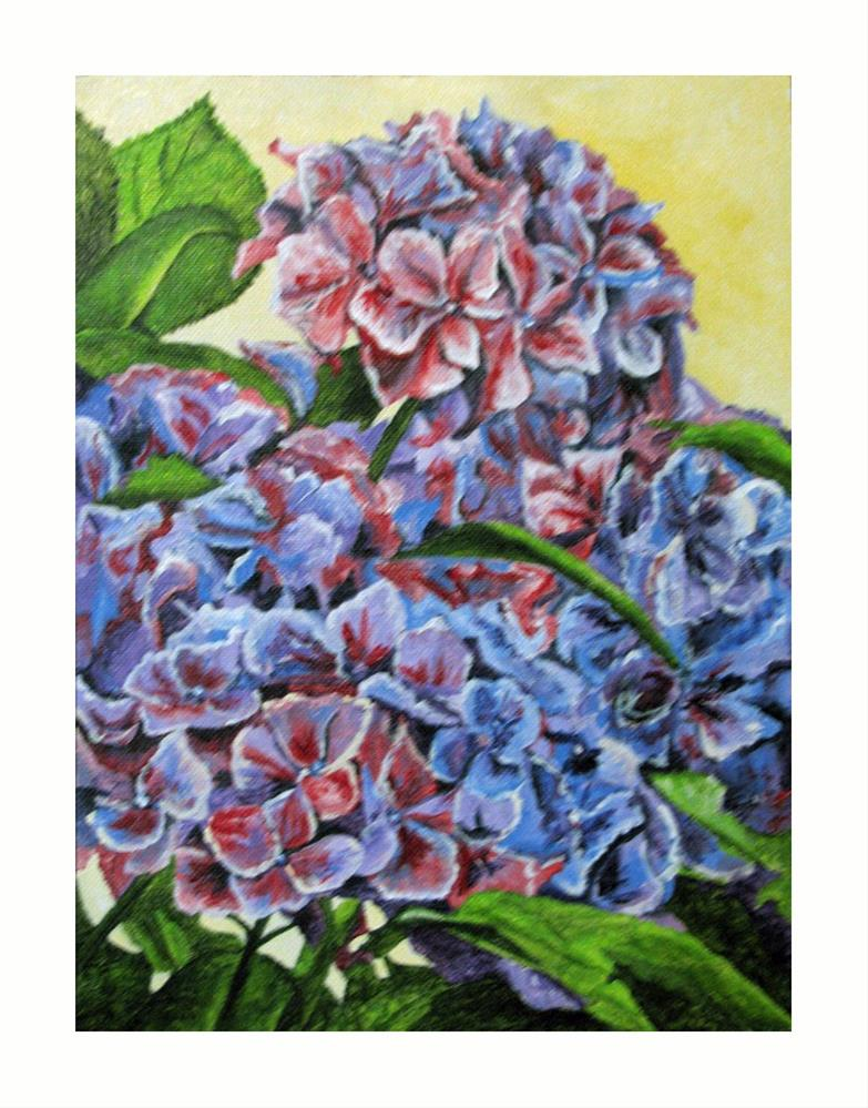 """Hydrangea"" original fine art by Nan Johnson"