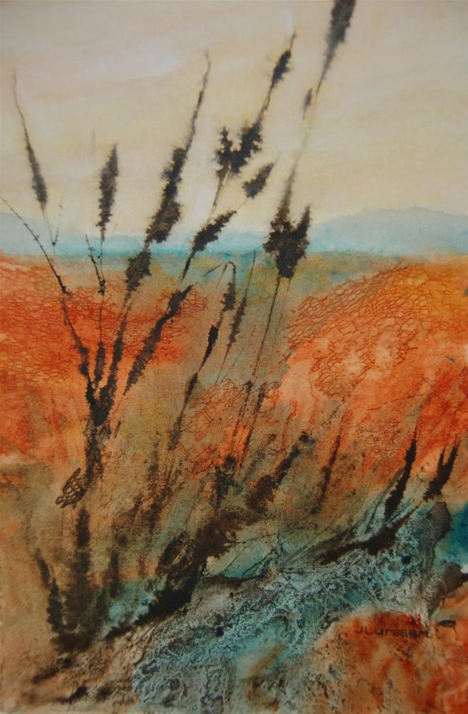 """""""Wild Grasses"""" original fine art by Jean Lurssen"""
