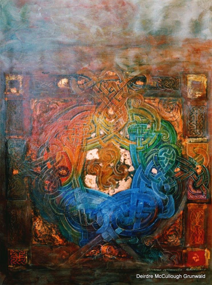 """Mandala Sky"" original fine art by Deirdre McCullough Grunwald"