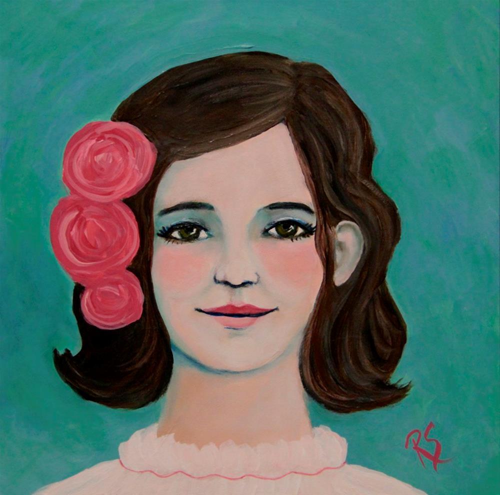 """""""Portrait of Lucy"""" original fine art by Roberta Schmidt"""