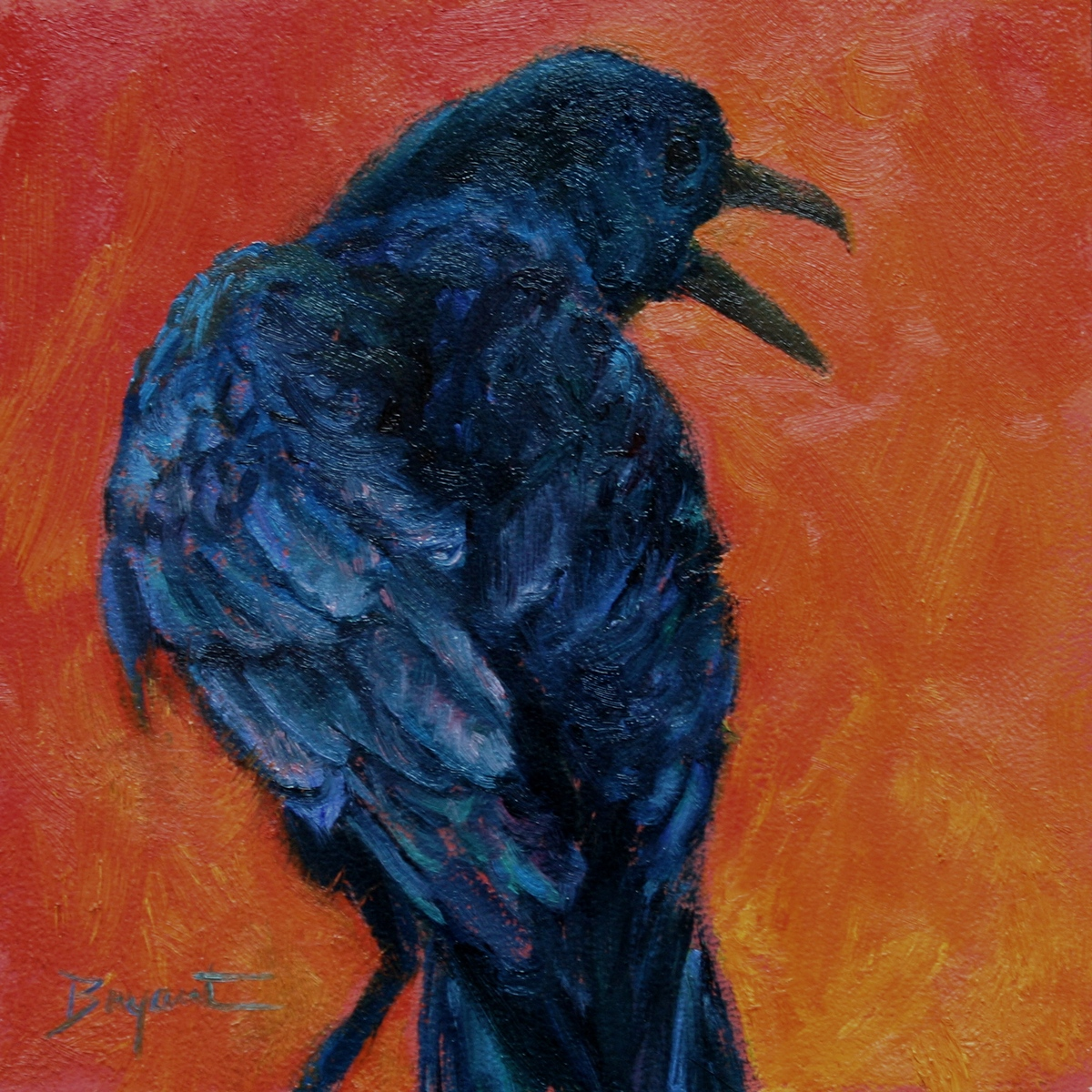 """Magpie"" original fine art by Debra Bryant"