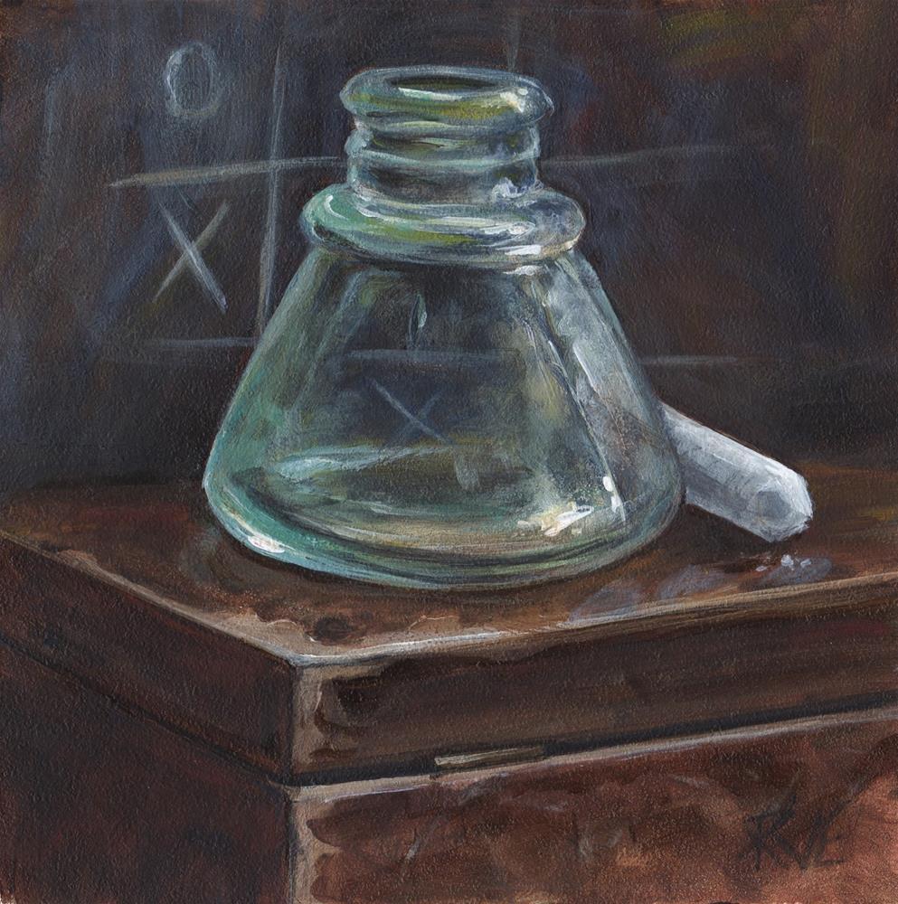 """#91   Inkwell and chalk"" original fine art by Ruth Van Egmond"