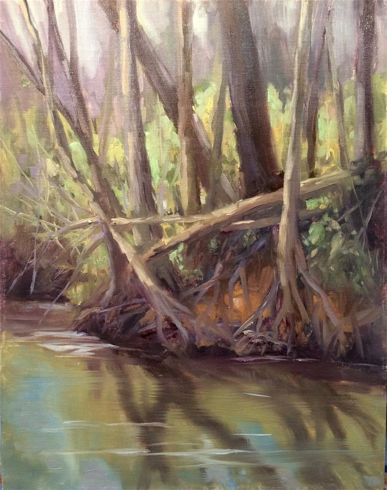 """strong roots"" original fine art by Dottie  T  Leatherwood"