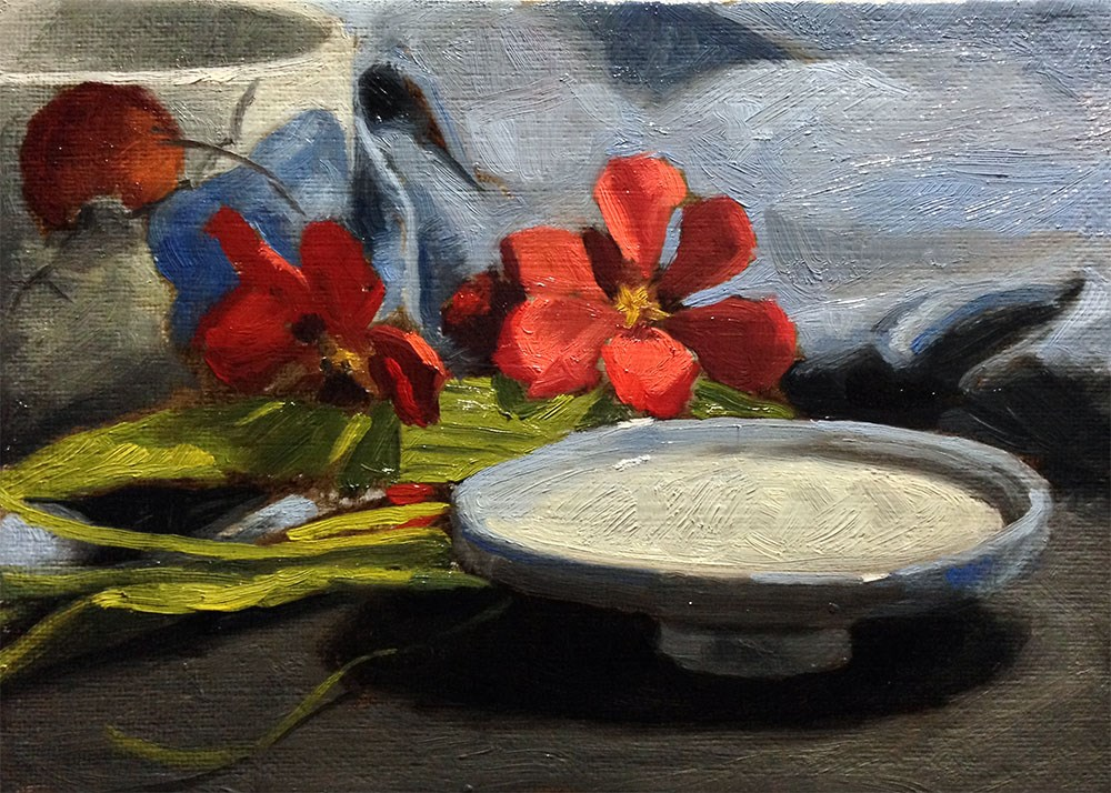 """Flowers and China 2"" original fine art by Chris Beaven"