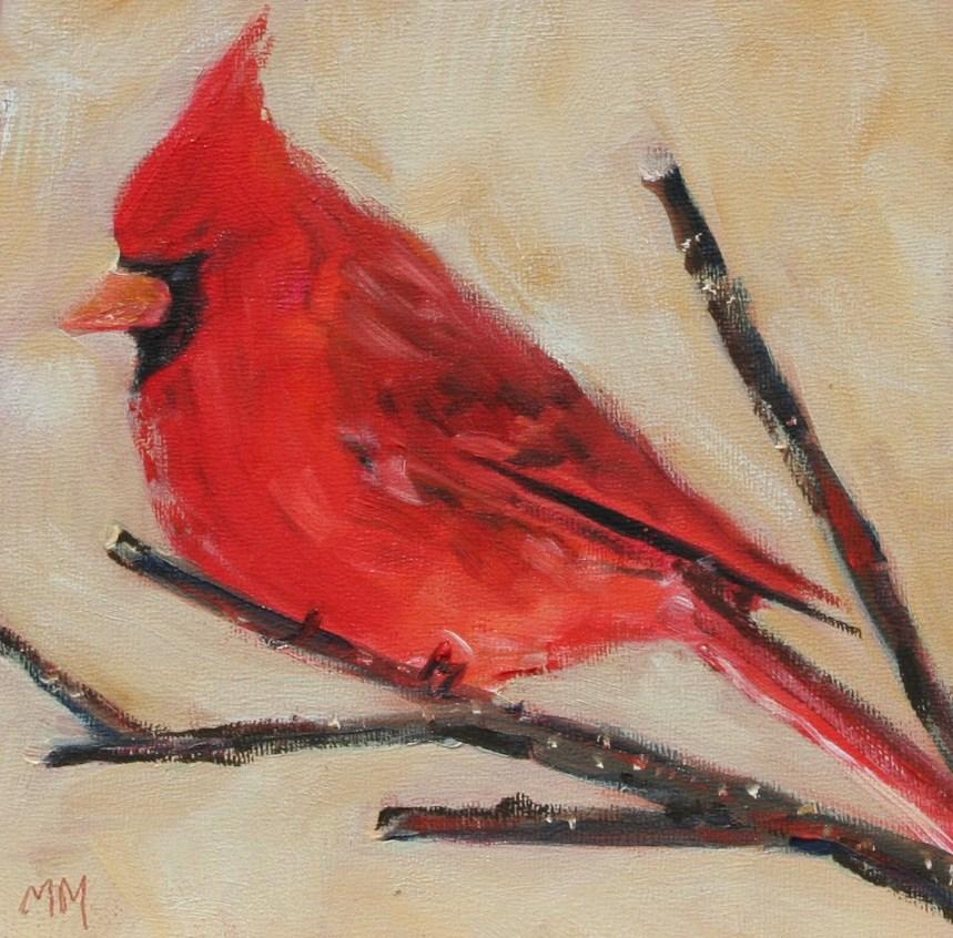 """""""Cardinal"""" original fine art by Maria McNitt"""