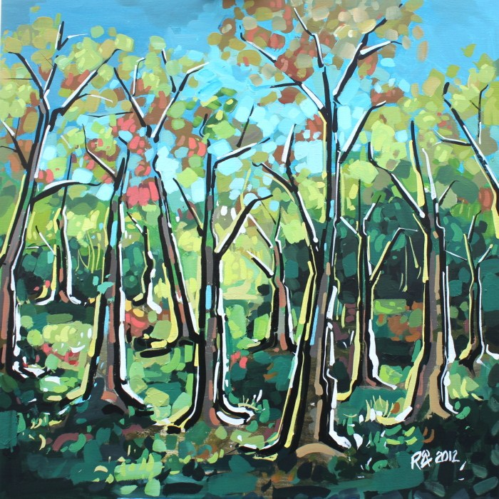 """In the forest 9 - The Big One"" original fine art by Roger Akesson"