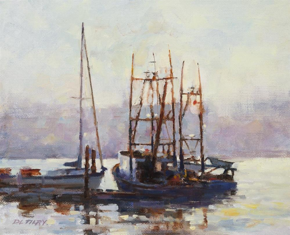 """Light in the Harbour"" original fine art by Deborah Tilby"