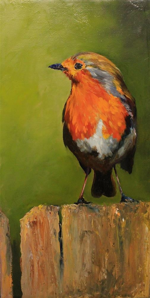 """Robin"" original fine art by Marco Vazquez"