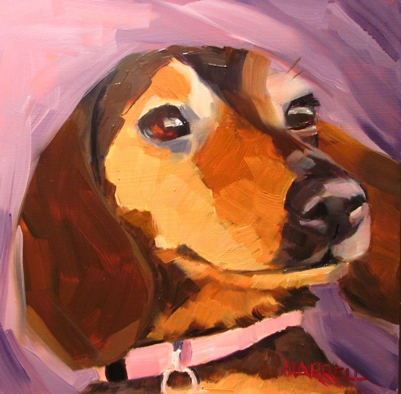 """RyLee"" original fine art by Sue Harrell"