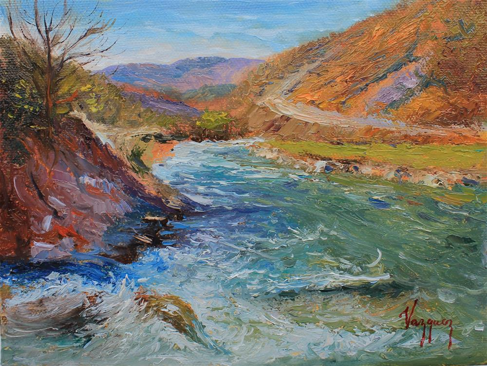 """River stream"" original fine art by Marco Vazquez"