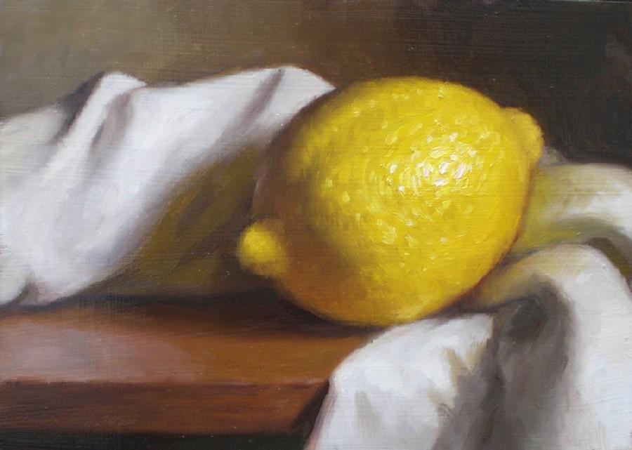 """Lemon and Cloth"" original fine art by Debra Becks Cooper"