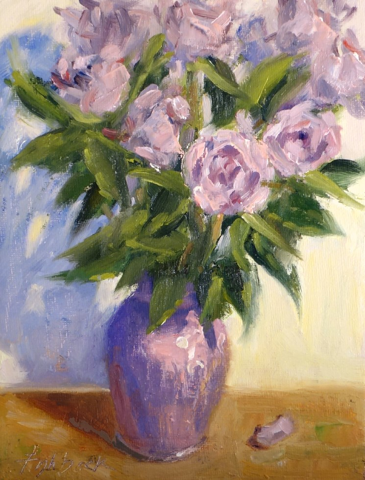 """Lavendar Roses"" original fine art by Daniel Fishback"