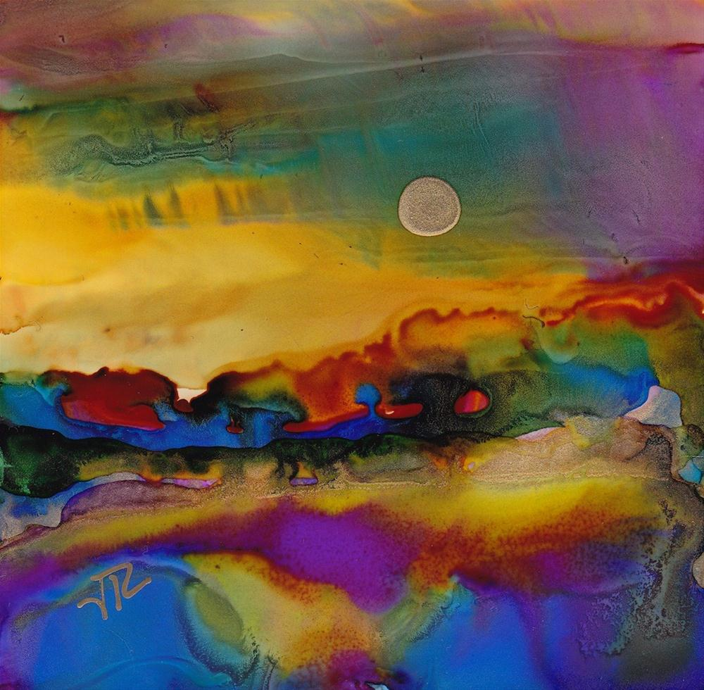 """Dreamscape No. 220"" original fine art by June Rollins"