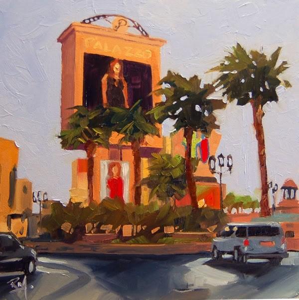 """No 649 Las Vegas Baby No 2"" original fine art by Robin J Mitchell"