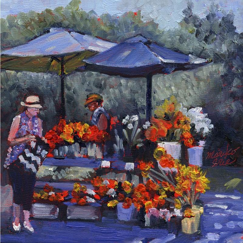 """Flower Booth"" original fine art by Mariko Irie"