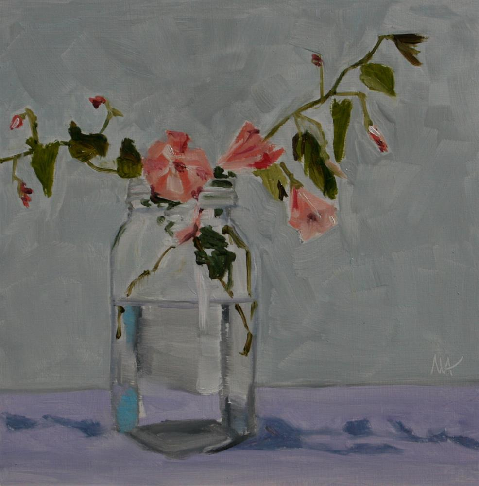 """Weeds? Flowers?"" original fine art by Aniko Makay"