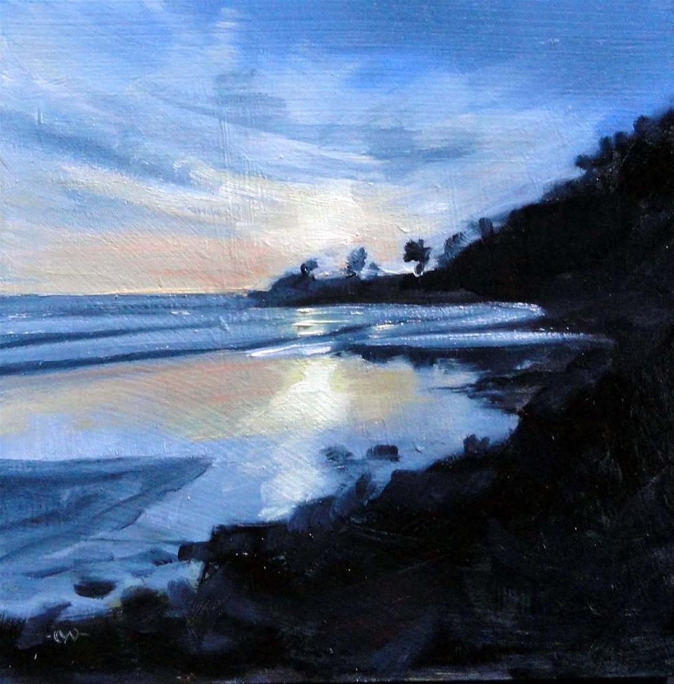"""Reflections at Low Tide"" original fine art by Cietha Wilson"