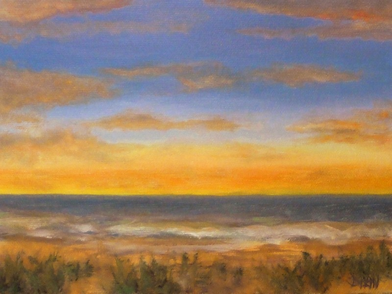 """Birthday Sunset Kauai"" original fine art by Dalan Wells"