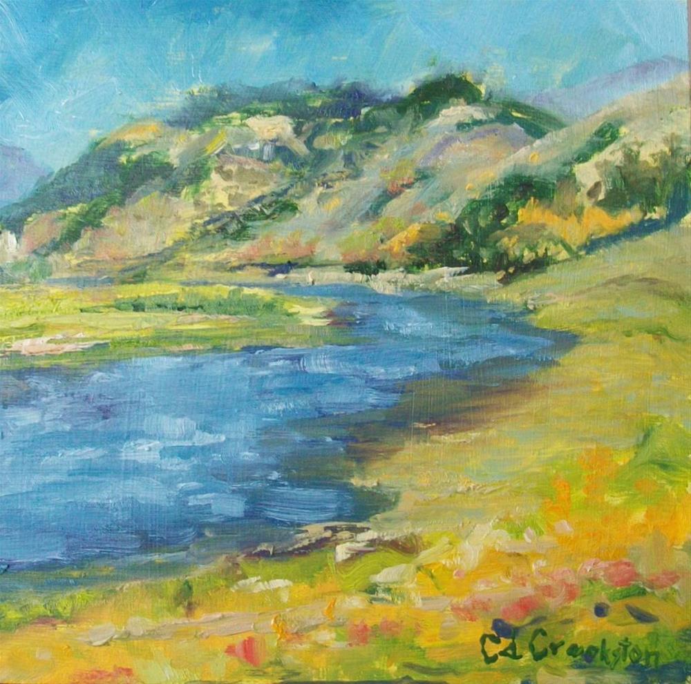"""Logan River"" original fine art by Catherine Crookston"