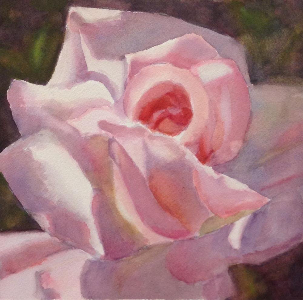 """Rose Sweet Rose- Could it work in Watercolor?"" original fine art by Pat Fiorello"