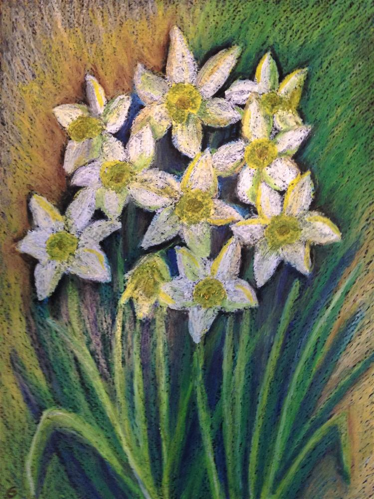 """Daffodils at the garden"" original fine art by Giovanni Antunez"