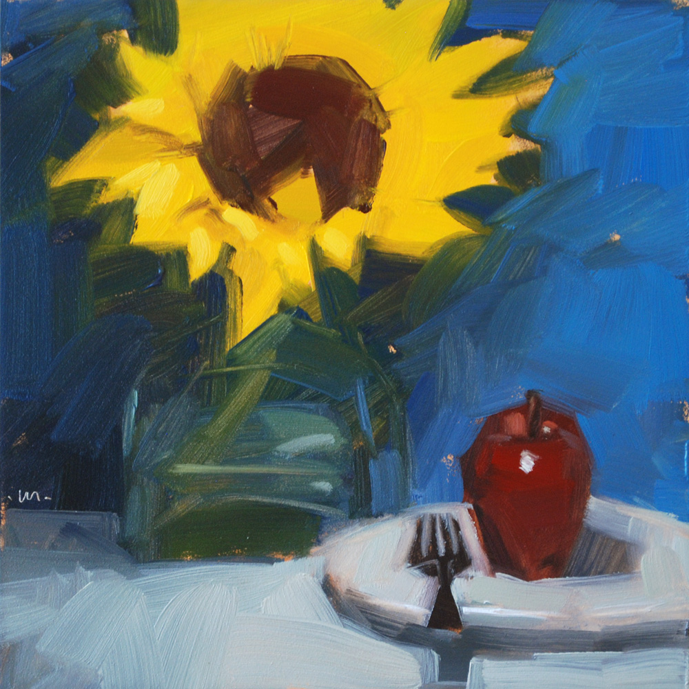 """Sunny Snack"" original fine art by Carol Marine"