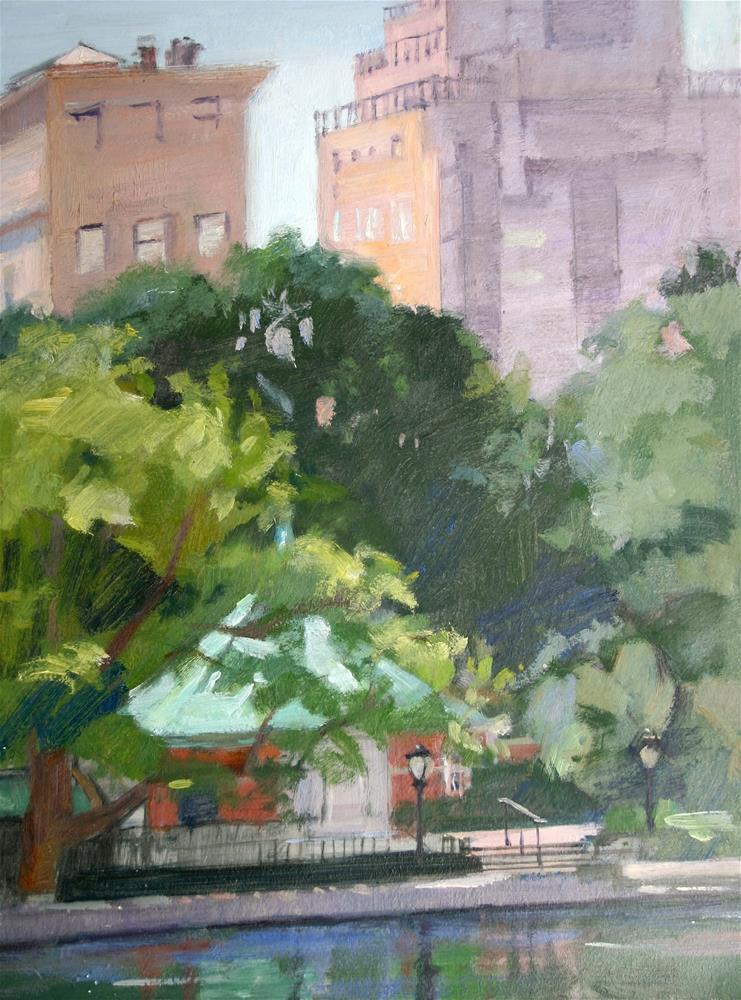 """The Boathouse, Central Park New York"" original fine art by Ann Buenaventura"