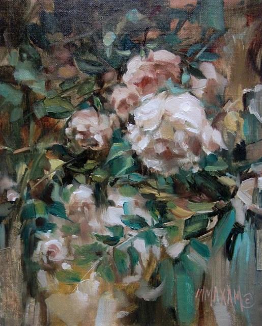 """Rose Bower- new DPW Auction"" original fine art by Mary Maxam"