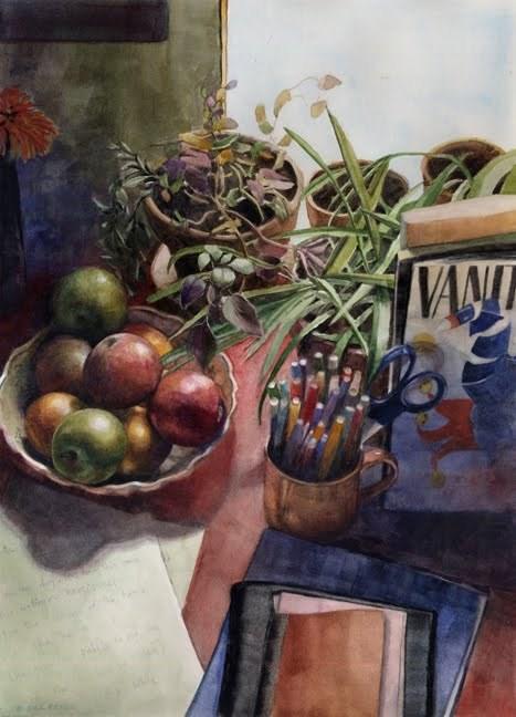 """Watercolor: Propagation (& new prints in my Etsy shop)"" original fine art by Belinda Del Pesco"