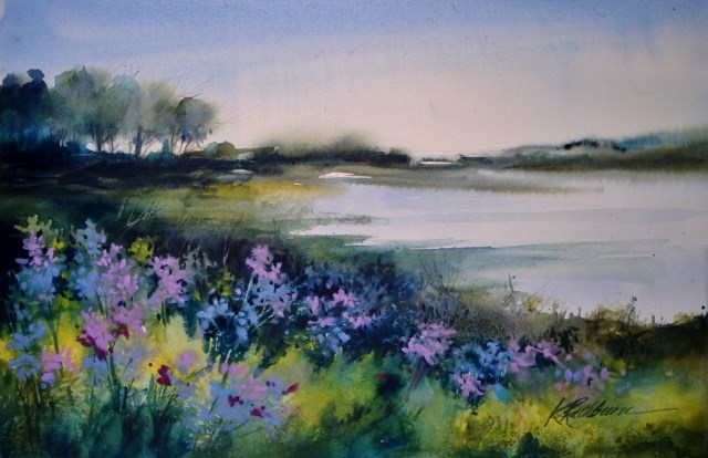 """Wildflowers at the Prairie"" original fine art by Kathy Los-Rathburn"