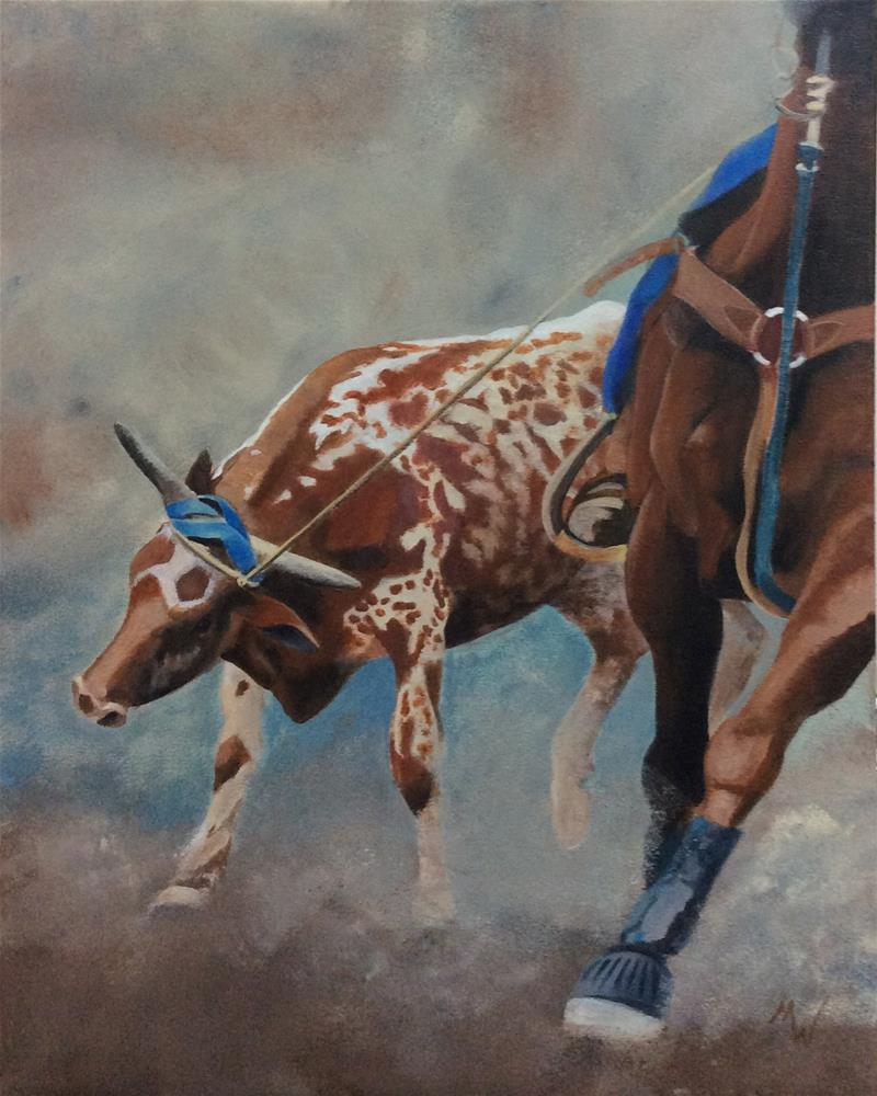 """Sunday Ropin'"" original fine art by Michelle Wolfe"