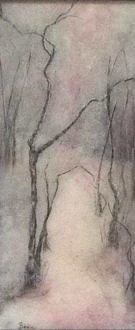 """Line Dance"" original fine art by Maureen Bowie"