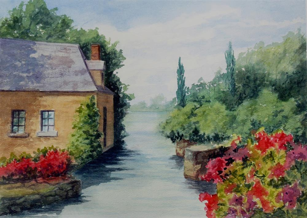 """Along the Cher - Watercolor"" original fine art by Vikki Bouffard"