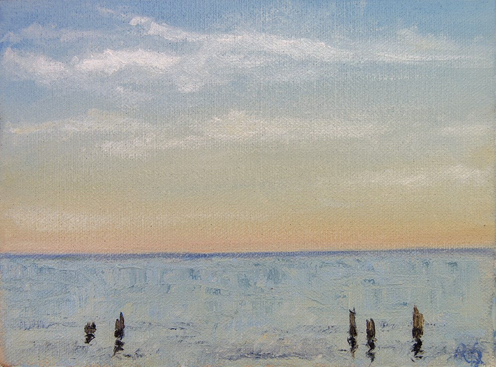 """Early Morning at the Water"" original fine art by Rachel Steely"