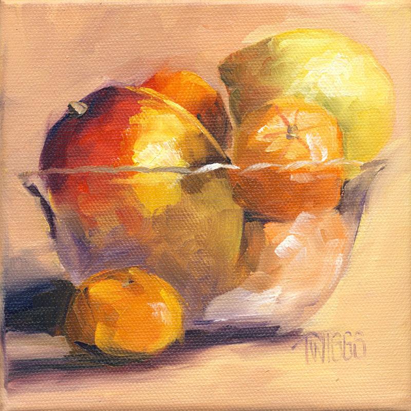 """Clementines 5"" original fine art by Lori Twiggs"