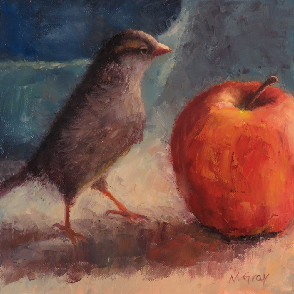 """Apple Inspection"" original fine art by Naomi Gray"